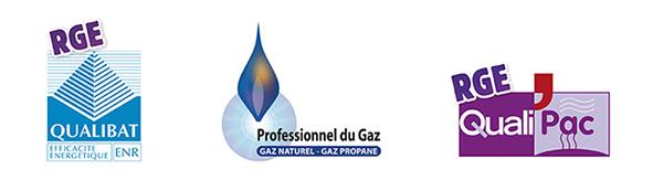 Qualibat, qualipac, professionnel du gaz